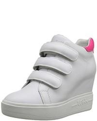 Zapatillas con cuña de cuero blancas de Ash