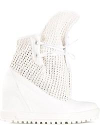 Zapatillas con cuña de cuero blancas de Vivienne Westwood