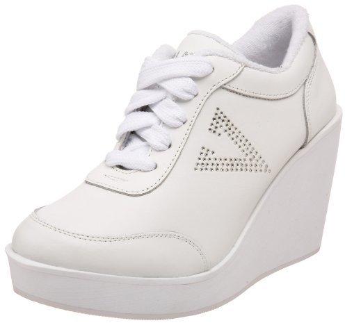 Zapatillas con cuña de cuero blancas de Volatile
