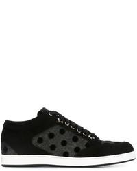 Zapatillas de ante a lunares negras de Jimmy Choo