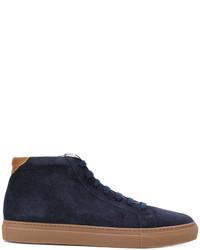 Zapatillas de ante azul marino de Brunello Cucinelli