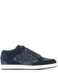 Zapatillas de ante azul marino de Jimmy Choo