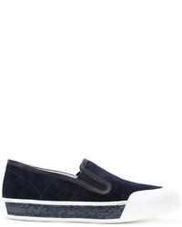 Zapatillas de ante azul marino de Tod's