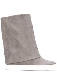 Zapatillas de ante grises de Casadei