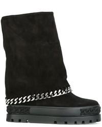 Zapatillas de ante negras de Casadei