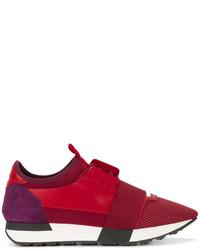 Zapatillas de ante rojas de Balenciaga