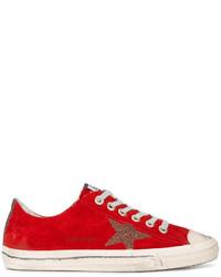 Zapatillas de ante rojas de Golden Goose Deluxe Brand