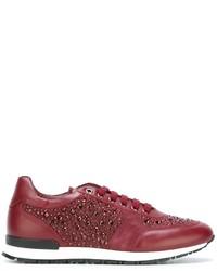 Zapatillas de ante rojas de Philipp Plein