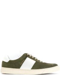 Zapatillas de Ante Verde Oliva de Paul Smith