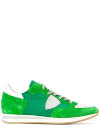 Zapatillas de ante verdes de Philippe Model