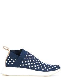 Zapatillas de cuero azul marino de adidas