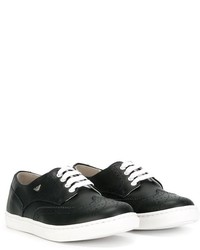 Zapatillas de cuero azul marino de Armani Junior