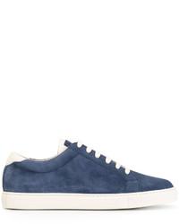 Zapatillas de Cuero Azul Marino de Brunello Cucinelli
