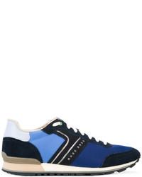 Zapatillas de cuero azul marino de Hugo Boss