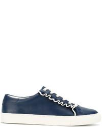 Zapatillas de cuero azul marino de Tory Burch