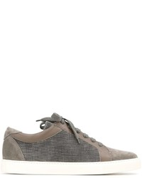 Zapatillas de Cuero Grises de Brunello Cucinelli