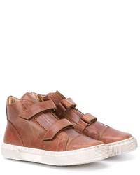 Zapatillas de cuero marrónes de Pépé