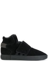 Zapatillas de Cuero Negras de adidas