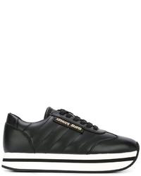Zapatillas de cuero negras de Armani Jeans