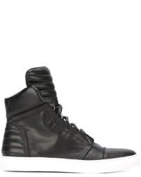 Zapatillas de Cuero Negras de Diesel Black Gold