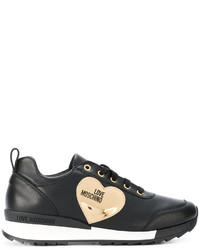 Zapatillas de cuero negras de Love Moschino