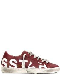 Zapatillas de cuero rojas de Golden Goose Deluxe Brand