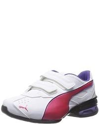 Zapatillas en blanco y rojo