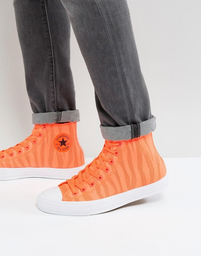 zapatillas naranjas converse