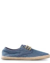 Zapatillas plimsoll de lona azul marino de Polo Ralph Lauren