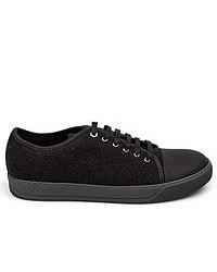 Zapatillas plimsoll negras de Lanvin