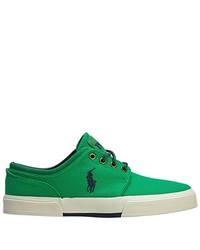 Zapatillas plimsoll verdes de Polo Ralph Lauren