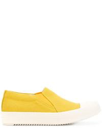 Zapatillas Slip-on Amarillas de Rick Owens