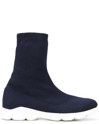 Zapatillas slip-on azul marino de MM6 MAISON MARGIELA