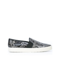 Zapatillas slip-on con print de serpiente grises de Vince