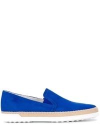 Zapatillas slip-on de ante azules de Tod's