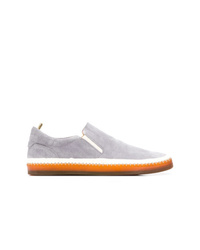 Zapatillas slip-on de ante grises de Officine Creative