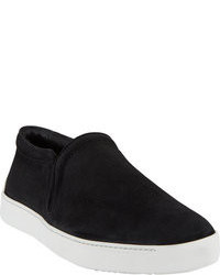 Zapatillas Slip-on de Ante Negras