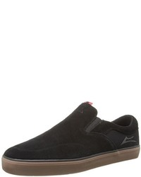 Zapatillas slip-on de ante negras de Lakai