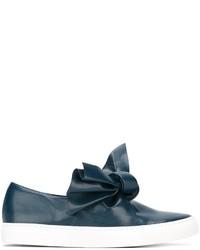 Zapatillas Slip-on de Cuero Azules de Cédric Charlier