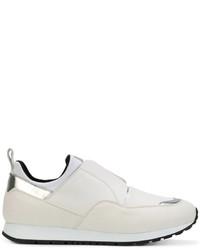 Zapatillas slip-on de cuero blancas de Tod's