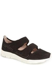 Zapatillas Slip-on de Cuero con estampado geométrico Negras
