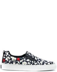 Zapatillas Slip-on de Cuero de Estrellas Negras de MSGM