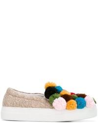Zapatillas Slip-on de Cuero Doradas de Joshua Sanders