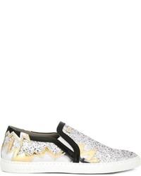 Zapatillas slip-on de cuero doradas de Philipp Plein