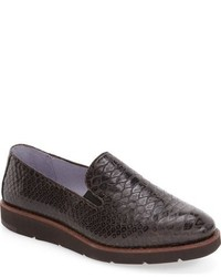 Zapatillas slip-on de cuero en marrón oscuro