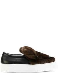 Zapatillas Slip-on de Cuero en Marrón Oscuro de Joshua Sanders