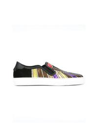 Zapatillas slip-on de cuero estampadas en multicolor de Givenchy