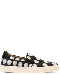 Zapatillas slip-on de cuero estampadas negras de Paul Smith
