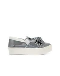Zapatillas slip-on de cuero grises de N°21