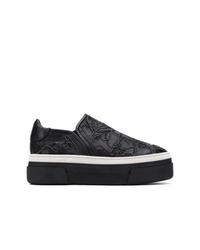Zapatillas slip-on de cuero negras de AGL